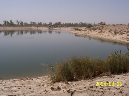 As you can see by this natural desert scene... oh wait, a lake isn't quite natural...