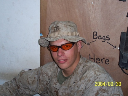 Berg with shades.  He thinks he's cool.